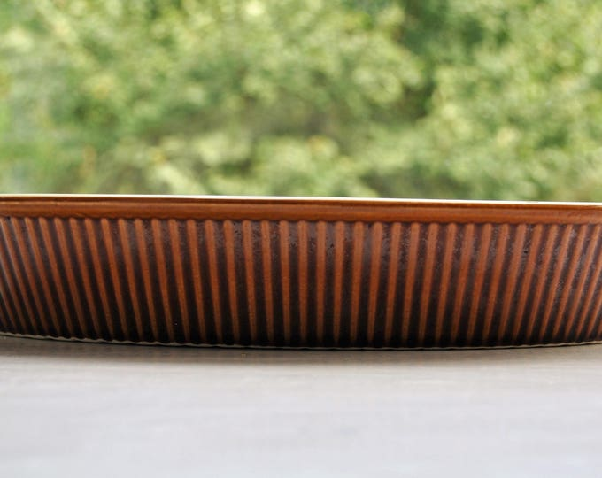 Villeroy & Boch Brown Ribbed Large Oval Baker Casserole Luxembourg