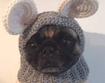 Pug Hat - Pug Balaclava - Pet Clothes - Dog Clothing - Dog Hat