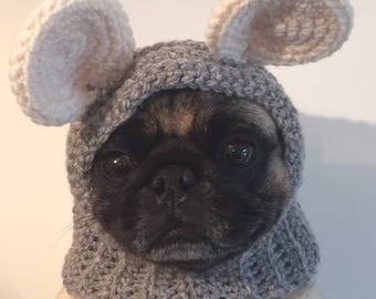 Pug Balaclava Knitting Pattern : Pugs-Sunhat For Dogs-Hats For Dogs-Pugs In Hats-Novelty Dog