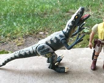 Jurassic Park Lost World Cyclops Velociraptor Raptor Dinosaur & Robert Muldoon