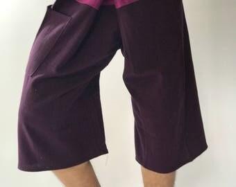 F30030 Thai Fisherman Pants Wide Leg pants, Wrap pants, Unisex pants, Thai Fisherman Pants, Cotton
