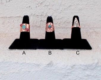 OOAK Repurposed copper pipe & tubing shield rings