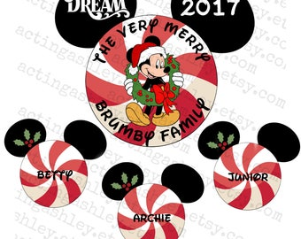 Very Merry Family Christmas Disney Cruise Door Magnet Set