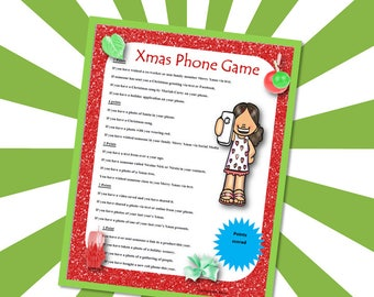 Christmas Phone Game, Christmas Party Game, Christmas Games for Groups
