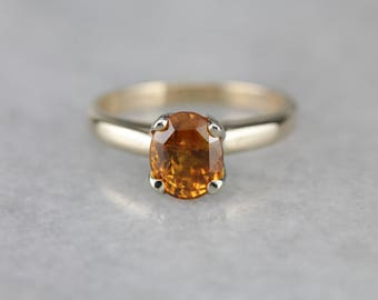 Sunset Sapphire Solitaire, Yellow Sapphire Ring, Engagement Ring VR0663-P