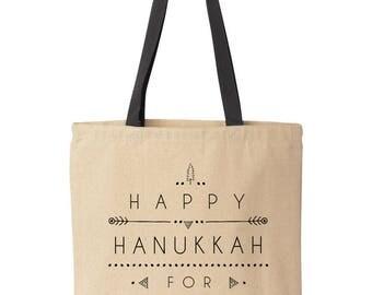 Large Hanukkah Gift Bag, Personalized Hanukkah Bag, Custom Hanukkah Gift Idea, Hanukkah Gift for Mom, Sister, Aunt, Friend, Teacher