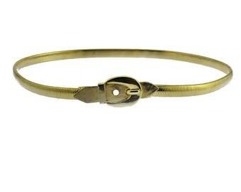 Gold Omega Chain Belt, Gold Chain Belt, Thin Gold Belt, Vintage Gold Belt