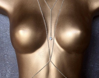 Silver Goddess Body Chain - Body Jewelry - Spring Break - Sexy Jewelry - Coachella Music Festival