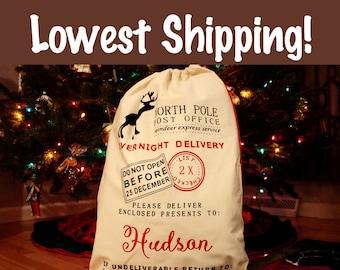 Santa Sack/Christmas Sacks/Christmas Bag/Personalized Santa Sacks/Custom Santa Sack/Santa Bag/Blank Santa Sack/Santa Claus Bag/Christmas Bag
