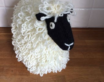 Hand Knitted Loopy Sheep Tea Cosy