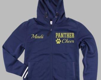CUSTOM Team Warm Up Hoodie; Custom Jacket; Full Zip; Glitter; Bling; Team; School Spirit; School Colors; Back To School; Quantity Discount