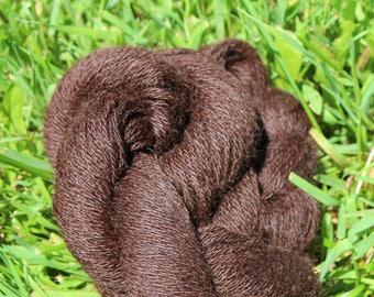 Deep, Dark Brown 100% Suri Yarn