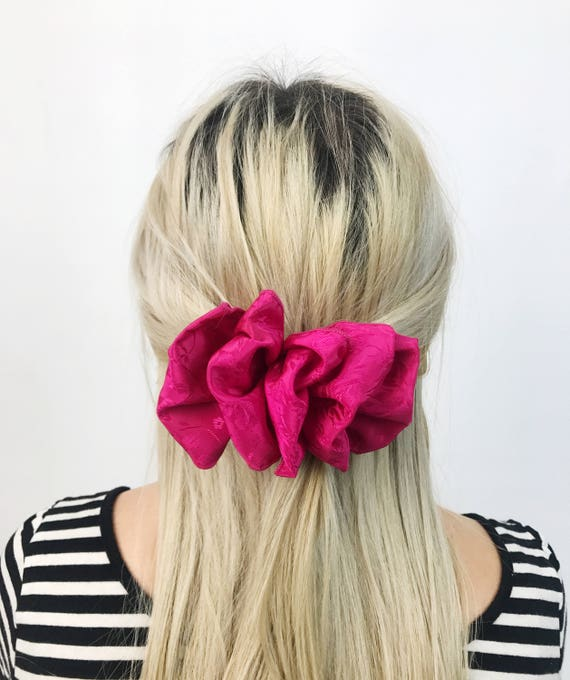 90's Hot PINK Hair  Clip French Clip Vintage Barrette - Giant Bow Clip Hipster Nineties Grunge Accessory Women Girly  Big Hair Clip Neon