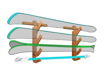 Bamboo Ski Rack - The Hallsteiner Series