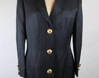 Gold button blazer | Etsy