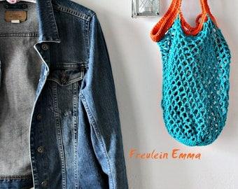 Häkelnetz Shopping bag Olga Color choice bag net bag coloured cotton