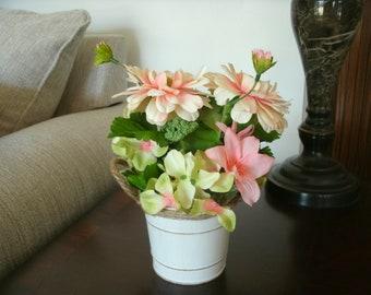 Floral Centerpiece, Table Floral Arrangement, Mother's Day Centerpiece, Holiday Table Decor, Home Decor, Office Decor, Seasonal Decor,