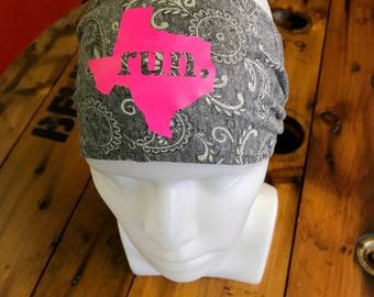 SALE*** RUN Texas - Home State Headband, Triblend, One Size Fits All