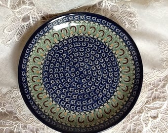 Polish Pottery Plate - 9 inches