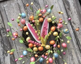 Bunny Wreath, Easter bunny Wreath, Easter door wreath, Easter wreath for door, Easter Egg wreath, Egg Door wreath, Egg Wreath, Easter Wreath