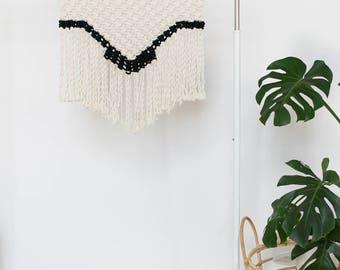 Medium/Large Macrame Wall Hanging - Neutral and Black