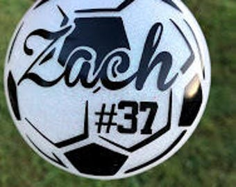 Soccer Ornament- Glittered & Personalized