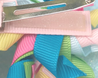 x250 pcs of ROSE QUARTZ GLITTER Grip Silicone Grip for Alligator Clips