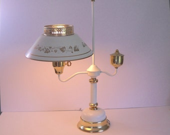 Large Tole Lamp with Gold Accents