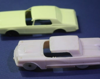 Pair of vintage F & F Mold and Die works  Dayton Ohio - 1958 Pink Thunderbird and 1967 Mercury Cougar - Free Shipping Domestic USA