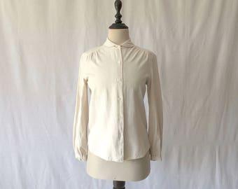 1970s raw silk blouse
