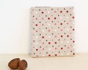 Textile Cover for Planers | Small Bag | Bag | Purse | Textiles | Handmade | Cover | Planers | Planer cover | Dots | Pattern