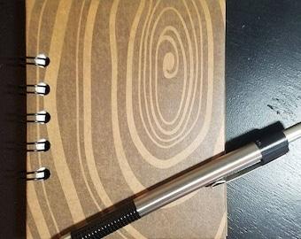 Woodgrain Mini Notebook - Mini Journal Wire Bound Notebook Contact Book Art Journal Bullet Journal