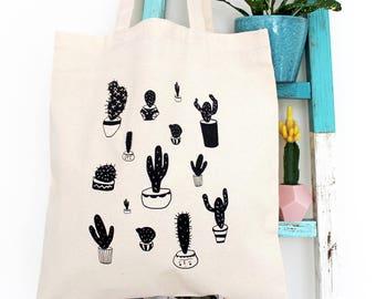 Cactus PotPlant Tote Bag