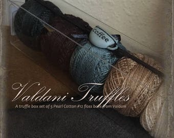 "Valdani Thread: Gift Set/5 Perle Cotton Embroidery Thread Balls - ""Coffee Time"" Collection"