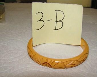 BB #3-B Carved Vintage Bakelite Bracelet
