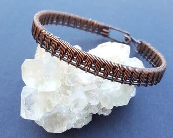 Wire Weave Bracelet, Handmade Copper Bracelets, Wire Woven Jewelry, Wire Wrapped Jewelry, Wire Wrap Jewellery, Handmade Copper Jewellery