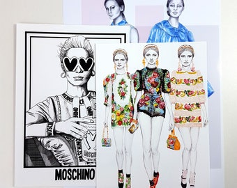 Mis- Print Pack 3 / Art prints / Art Mis-Print Pack / Fashion Prints