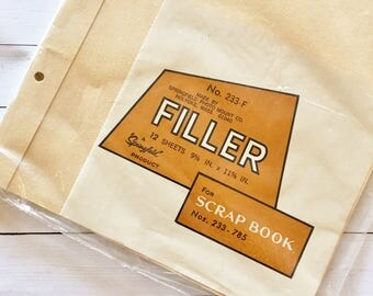 Vintage Scrapbook Filler Paper/New Old Stock/12 Sheets/by Springfield