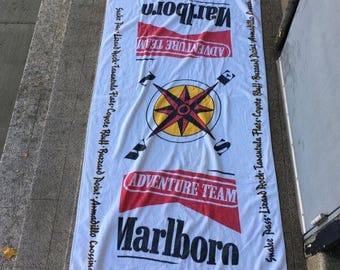 Vintage 90s Marlboro Adventure Team Beach Towel