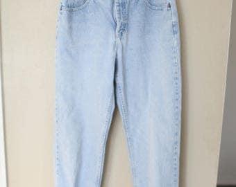 vintage LEE  high rise tapered mom  jeans denim 30