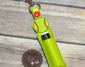 Lip Balm, Chapstick, Flash Drive, USB Drive Holder - Softball, sports