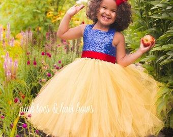 Snow White Tutu Dress-Snow white dress- Snow white Costume -Snow white Tutu-snow white birthday-snow white party-snow white