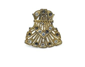 Vintage Dress Clip, Repair, Repurpose, Wear, Assemblage