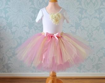 Pink Girls Tutu, Tutu Skirt, Flower Girl Dress, Flower Girl Tutu, Girls Tutu, Silver Tutu, Tulle Skirt, Baby Tutu, Adult Tutu, Long Tutu