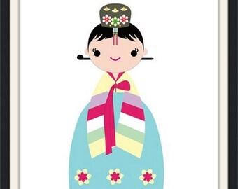 Our Korean Princess Hanbok Poster