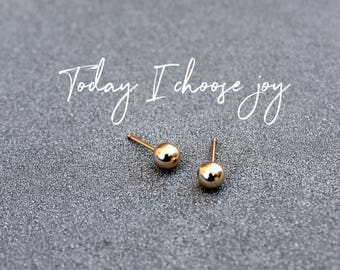 Small stud earrings, Tiny gold studs, Simple gold studs, minimalist earrings Gold Ball earrings, Gold Ball stud earrings Gold studs everyday