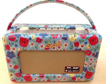 Roberts Revival Radio DAB in Cath Kidston Paradise Fields Tulips oilcloth