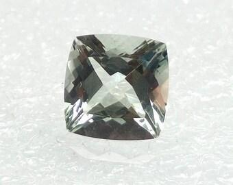 Prasiolite Gemstone Cushion Cut Prasiolite, Gems 10x10x7 mm Green Amethyst Faceted Gemstone Cushion Shape
