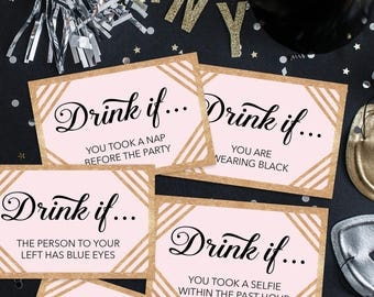 New Year's Eve Party Game - Drink If Game - Printable New Years Eve Game - New Years Eve Decorations - New Years Eve Ideas - Happy New Year