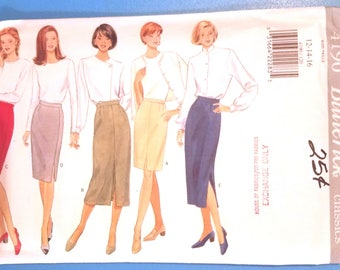 Butterick 4190 - Fast and Easy - Misses' Skirt Pattern - Sizes 12, 14, and 16 - Ladies and Women's Skirt Pattern
